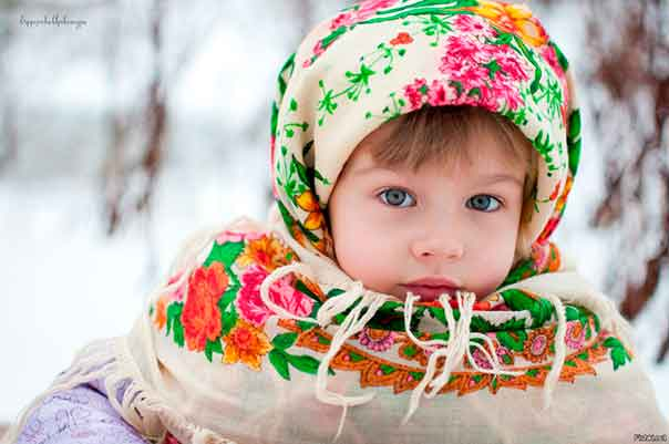 девочка славянка